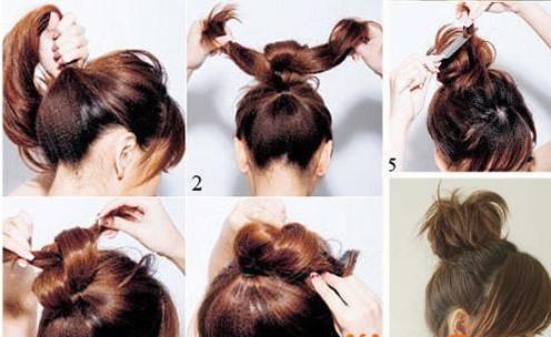 怎样扎头发蓬松图解图片