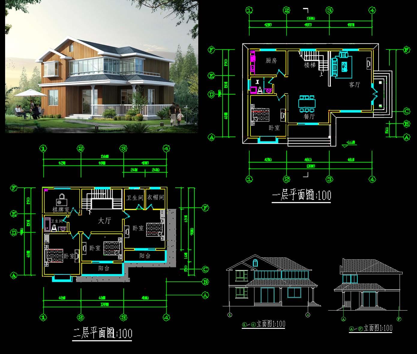10米x16米房屋设计图,南北长16米,东西宽10米电梯在东南角.图片