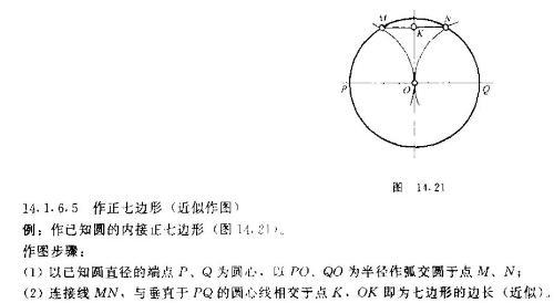 圆内正七边形的画法