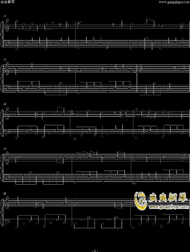 求tfboys 的魔法城堡的钢琴乐谱,不要简谱,但要左右手图片