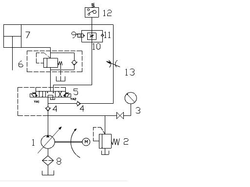 wc67k-63/2500液压板料折弯机液压原理图图片