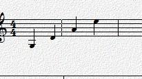 小提琴四个弦的音图片