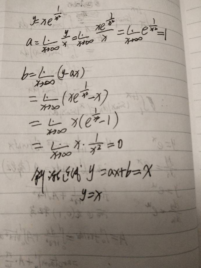 y=xe^-x^2的渐近线