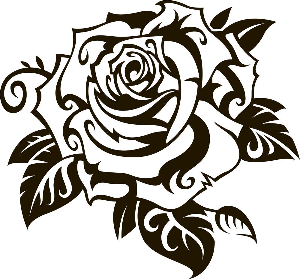 保罗·韦斯利的纹身,是一朵玫瑰图片