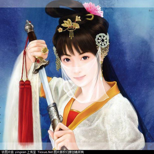 手绘古代美女手绘古装美女古代美女手绘图片古代美女