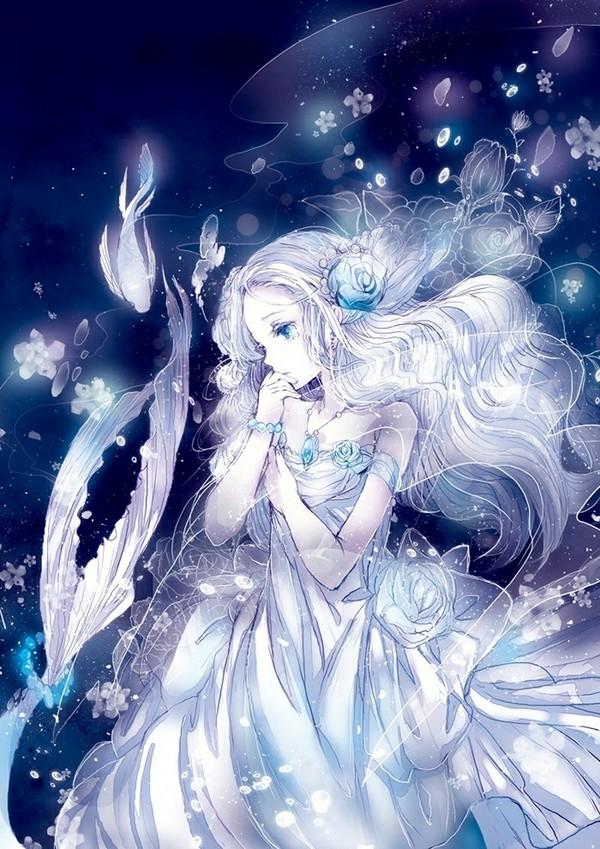 白发蓝眸在画画的少女是哪个动漫里的