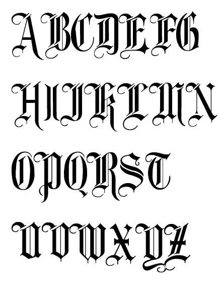 哥特式英文字体图片