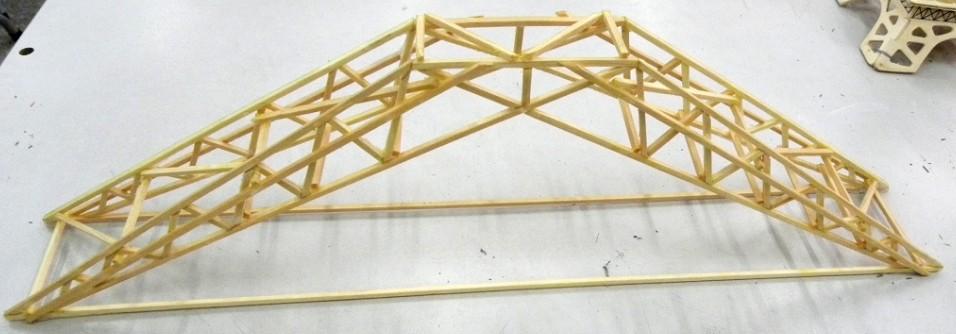 木结构桥梁承重的设计图图片