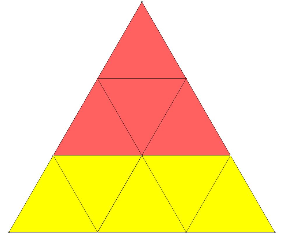 hdu1396(数三角形)的递推公式怎么推出来的图片