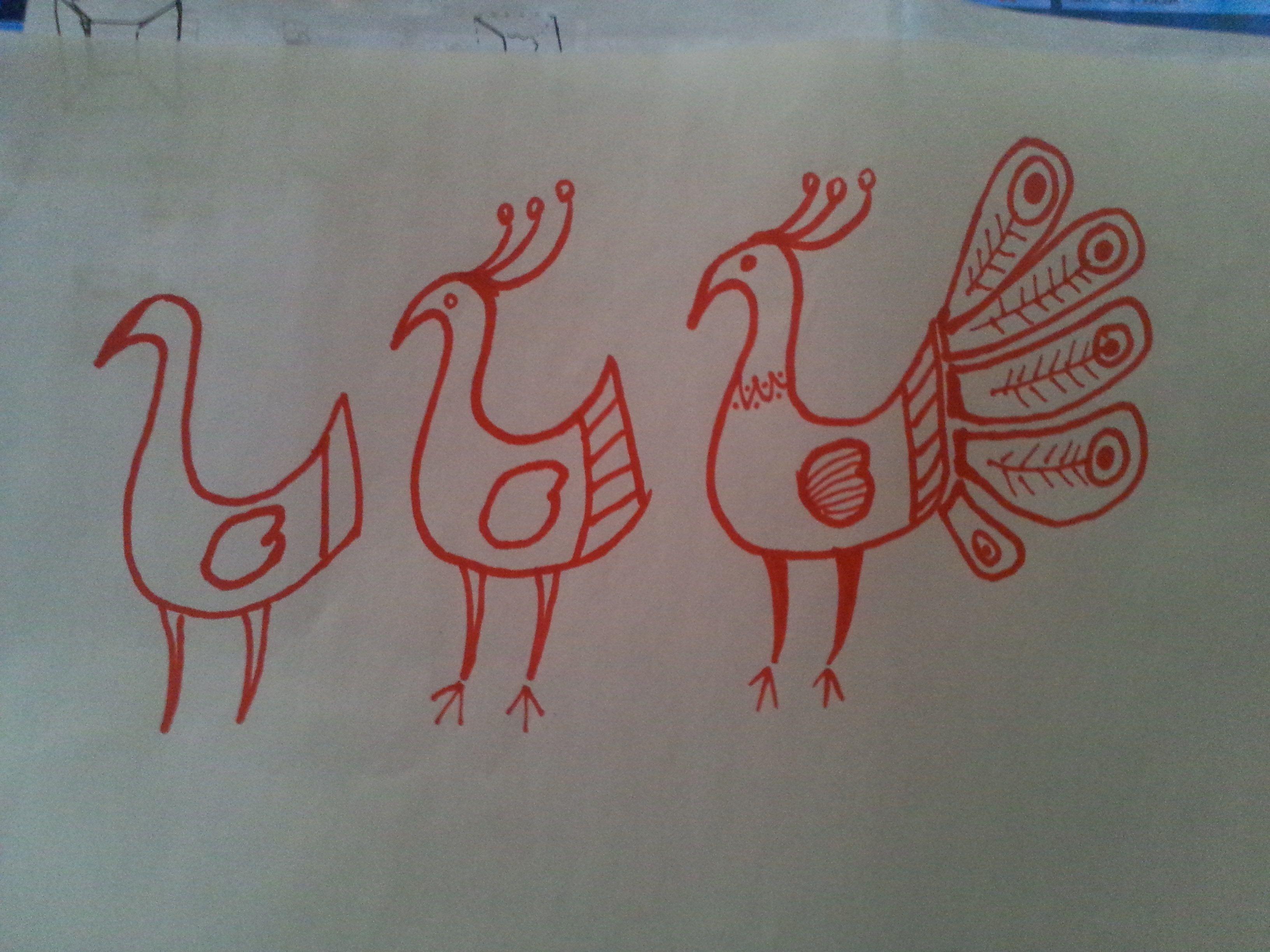 怎样教三年级的小学生画孔雀简笔画对于绘画基础较弱的学生可以图片