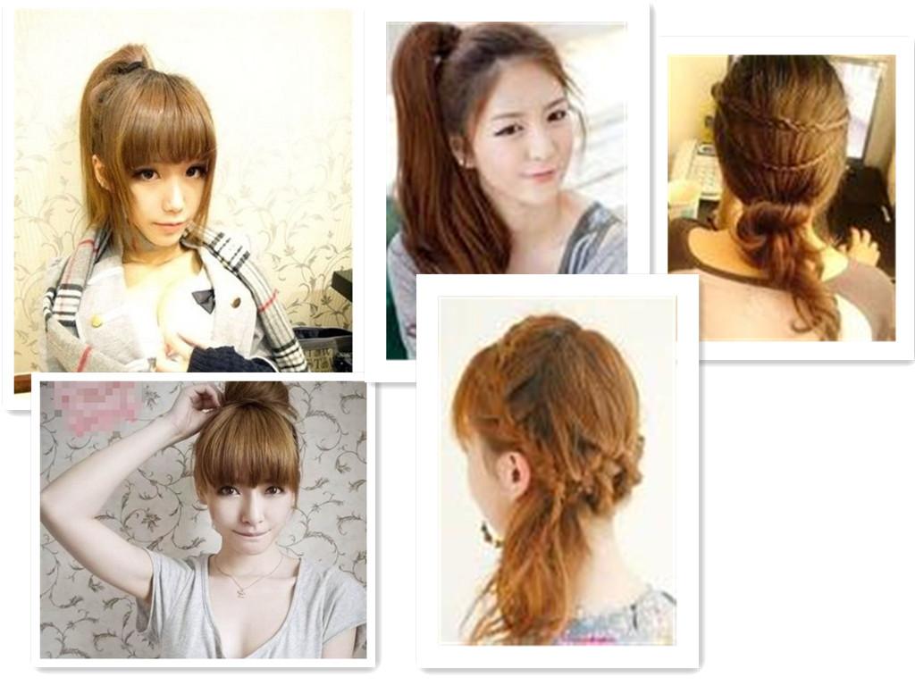 齐腰的头发在夏天怎么扎起来好看,求步骤图片