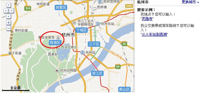 杭州西湖在哪个位置