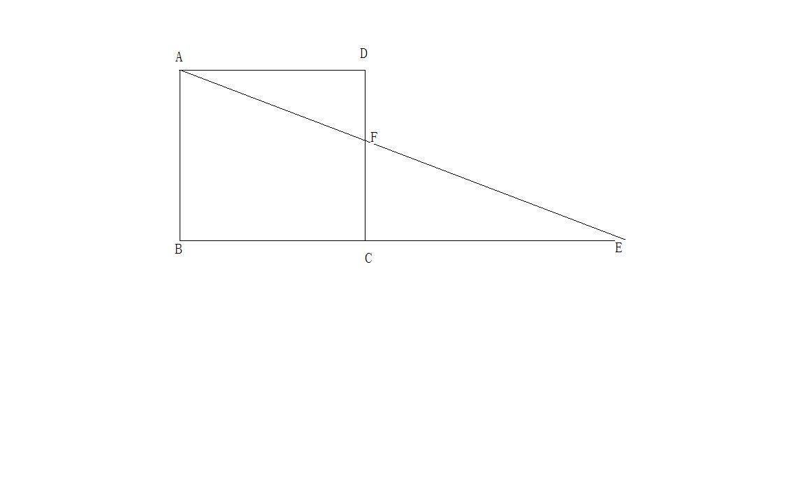 右图中正方形边长为6厘米,三角形adf是正方形的一部分图片