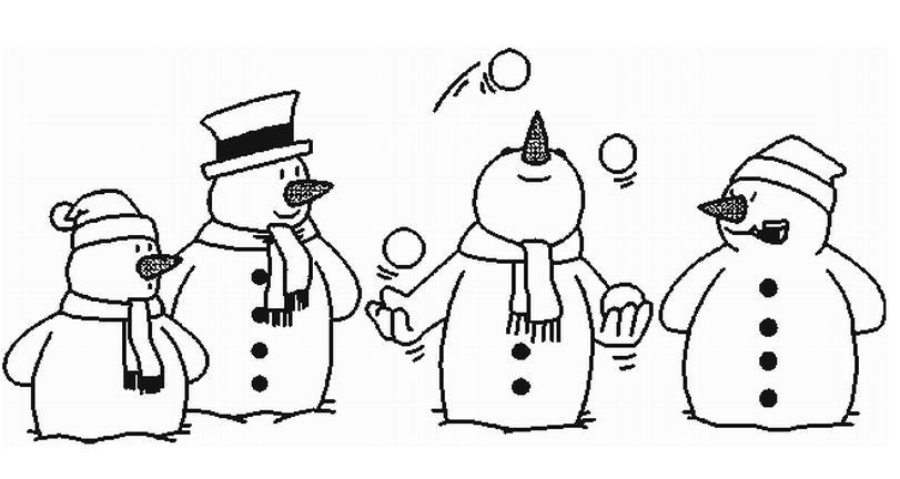 雪人卡通简笔画