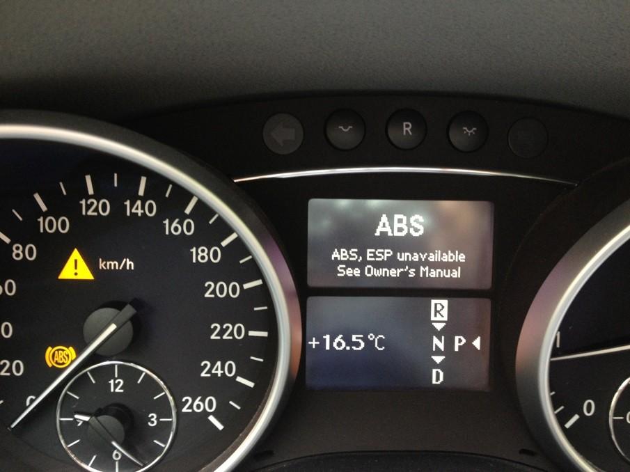 奔驰2010款ml350 换了前轮的两个胎,结果abs,胎压监测,esp高清图片