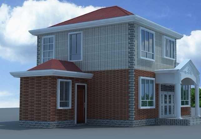 农村二层小别墅图片 农村别墅外观效果图 10万农村别墅设计图 两间二