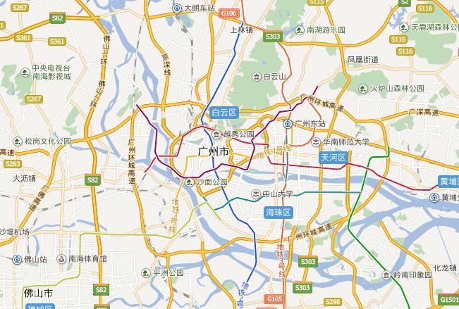 广州周边省份旅游景点
