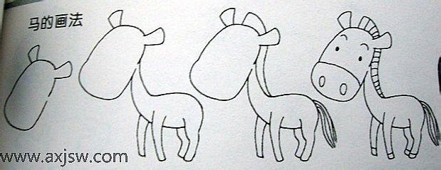 简笔画如何画马图片