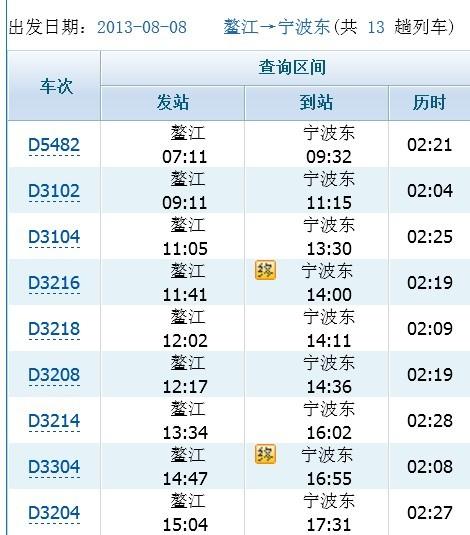 温州到鳌江_鳌江到杭州列车时刻表     从鳌江到温州
