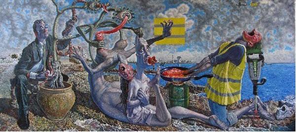 米罗(1893—1984),超现实主义代表人物,西班牙著名的画家和雕塑家.图片