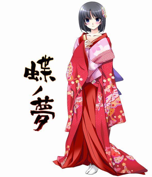 我自己画了日本和服少女漫画想问下怎么搭配色彩急急