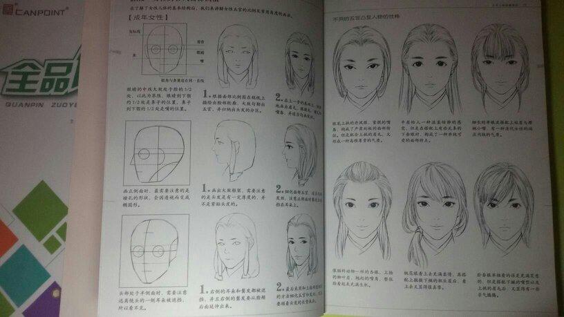 铅笔画古风发型教程图片
