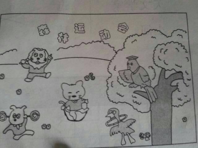 儿童画 简笔画 手绘 线稿 640_480图片
