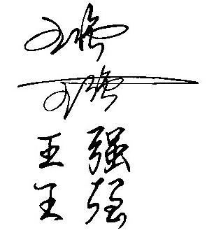 我想要自己的个性签名:草书或行书,在加上一个英文名图片