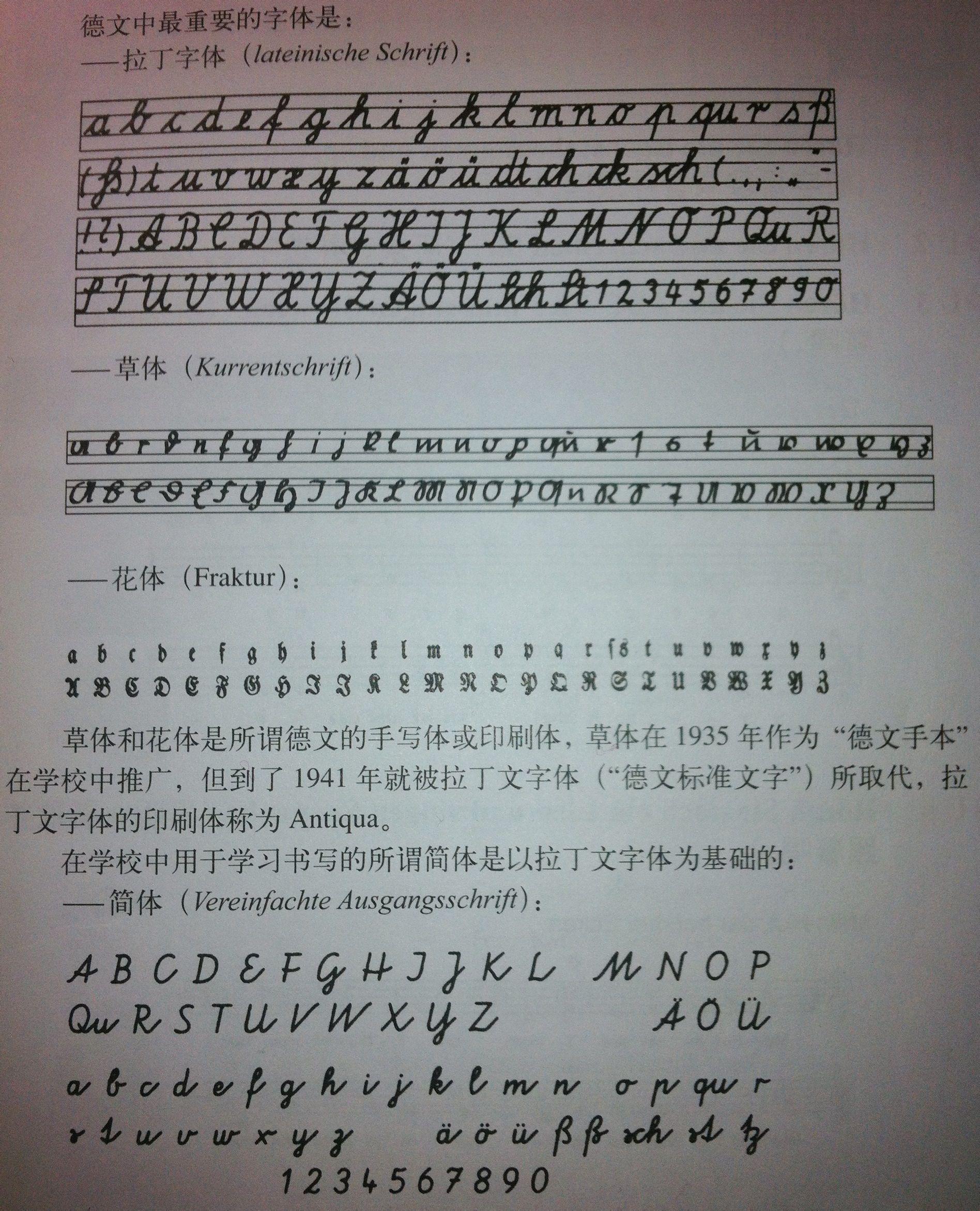 有大小写手写体的德语字母表在哪找?图片