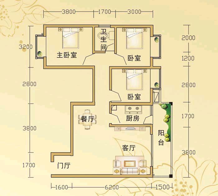 我家刚买的新房子98个平方三室两厅两卫正准备装修不知要准备多少钱图片
