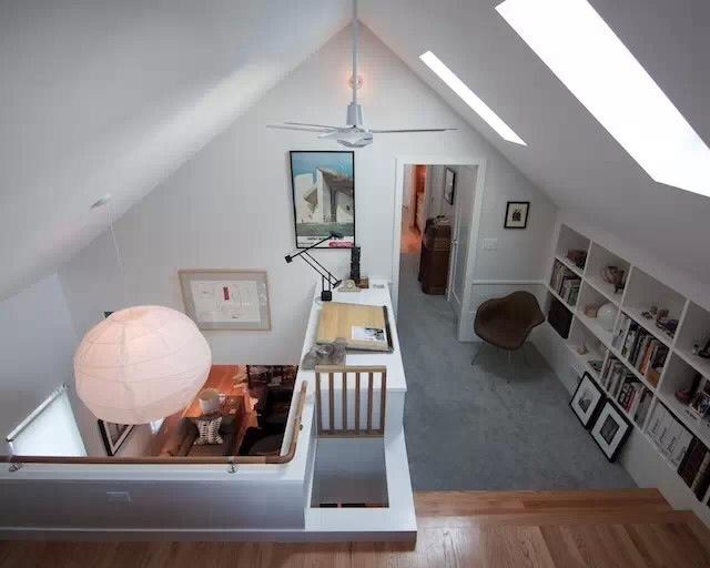 自隔阁楼且是斜坡屋顶装修设计