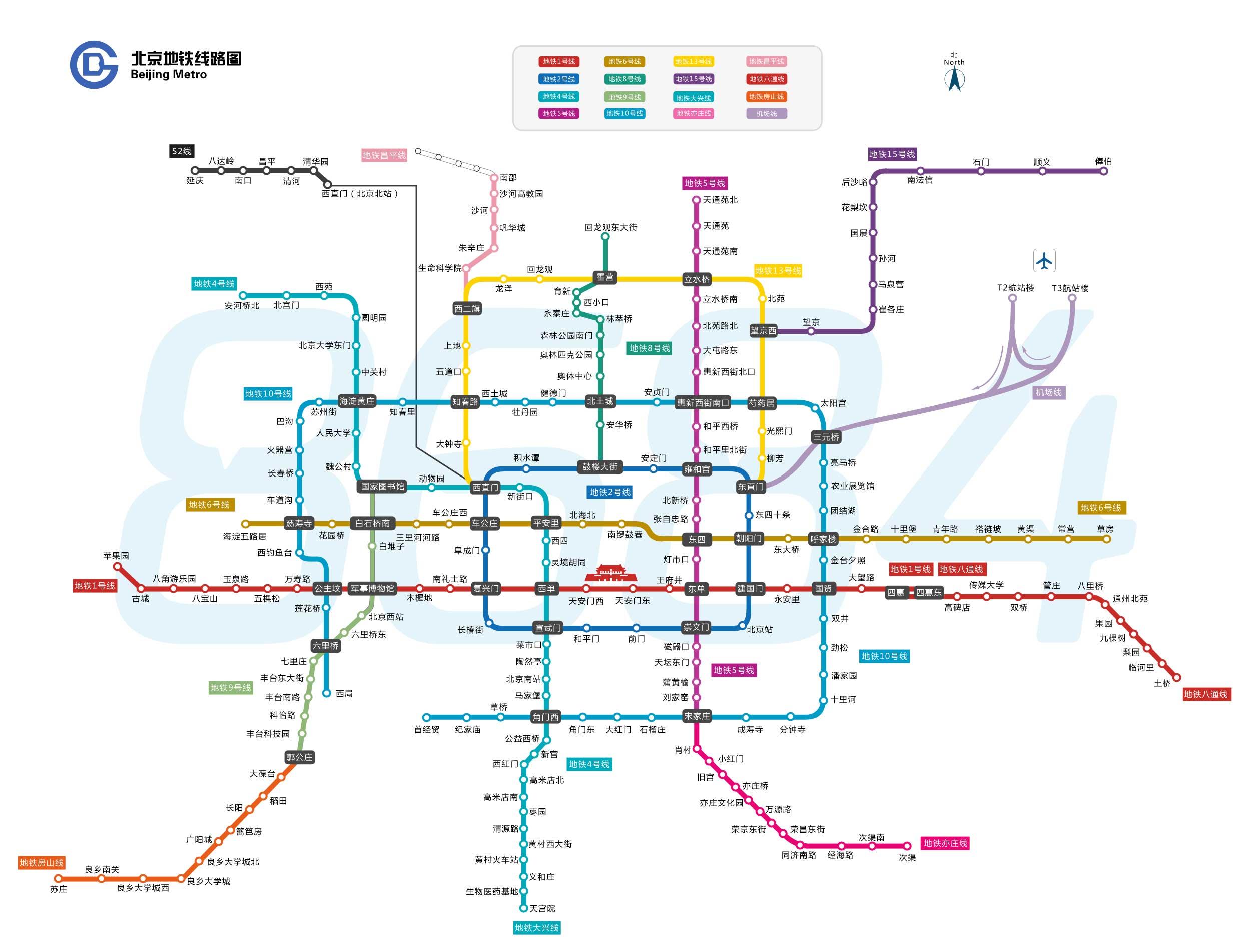 2013北京地铁路线图高清图片