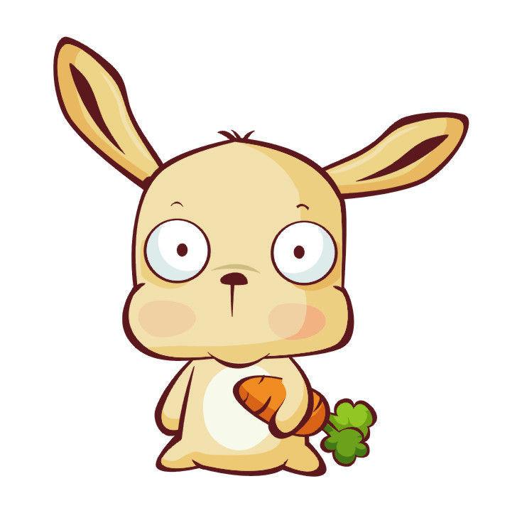兔子吃萝卜卡通图片图片