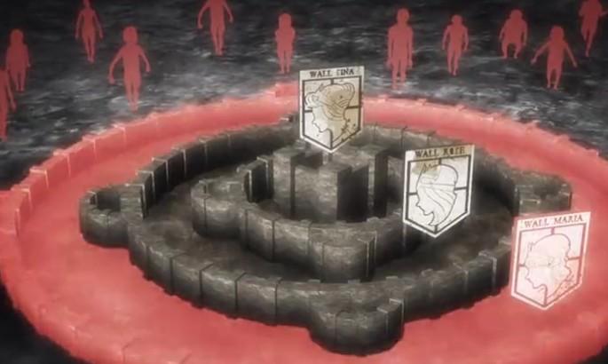 求进击的巨人墙壁标志图