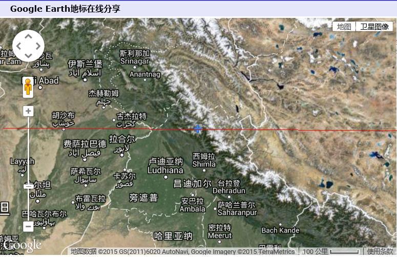 印控克什米尔地区_北纬32度仅仅穿过印度西北端的喜马偕尔邦和一小段印控克什米尔地区