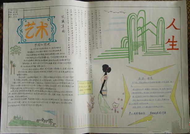校园艺术节手抄报版面设计