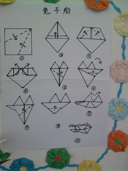 兔子船的折法图片