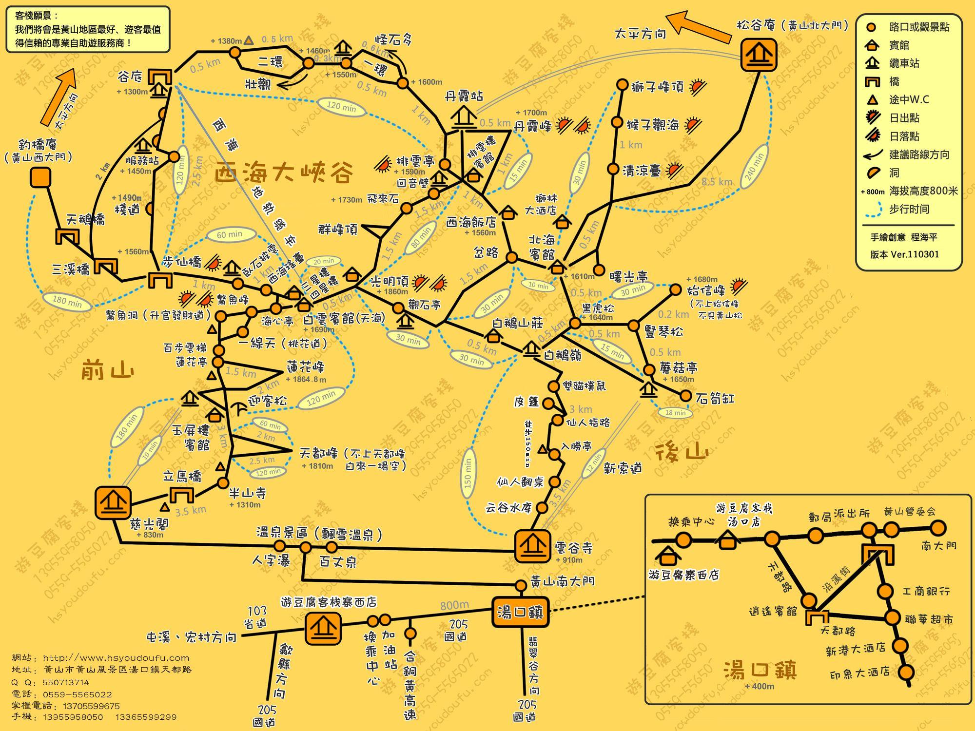 黄山二日游最佳路线图