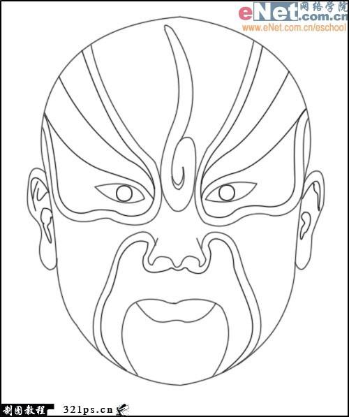 求可以上色的京剧脸谱图图片