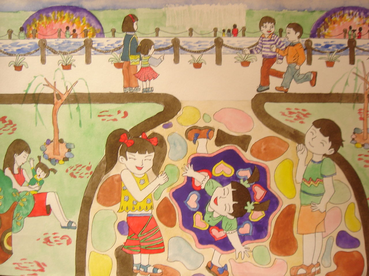 帮忙想几个儿童画题目 有诗意点的,急用图片