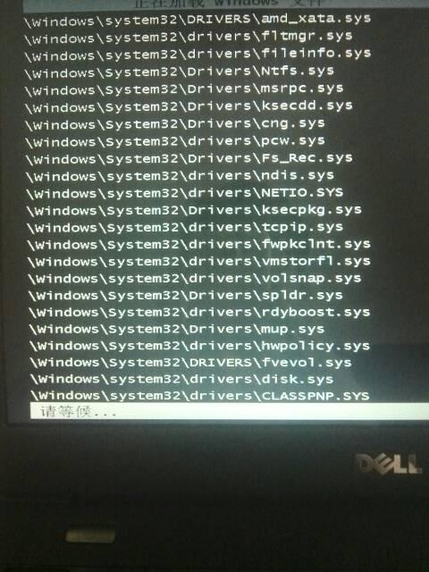 急,急 求大师修电脑我的dell电脑卡在这个画面不会动图片