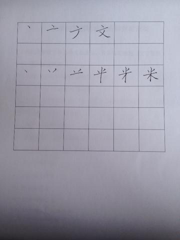 笔画捺在田字格书写写法 捺的写法田字格图片 笔画捺田字格正确