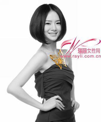 沙宣短发,2014沙宣短发发型图片,戚薇不对称短发沙宣头,沙宣-