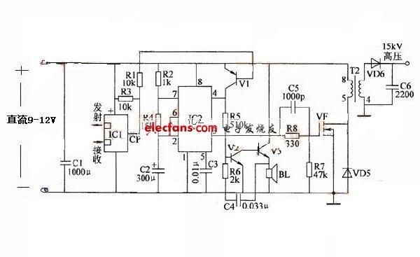 电子灭�yfj_谁有电子灭鼠器电路图