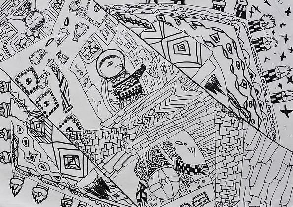 用4k纸画一张科幻画