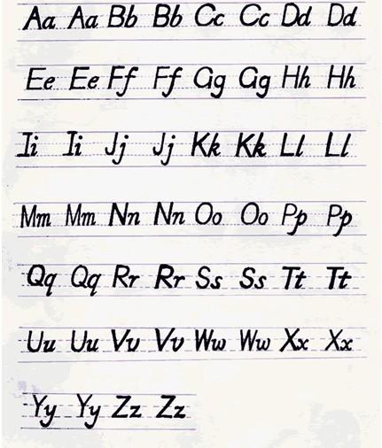 英语26个小写字母在四线三格中是怎样书写的图片