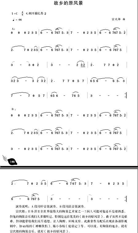 求学 故乡的原风景 12孔c调陶笛演奏方法 我属于0基础图片