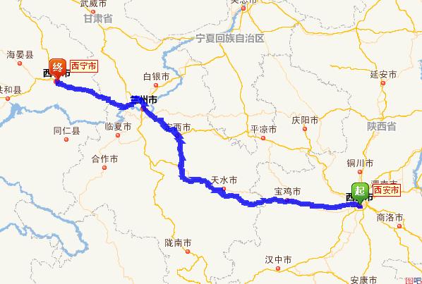 西安到青海多少公里