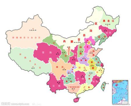 中国省级行政区地图图片