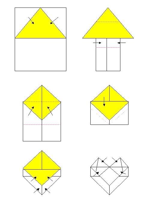 心型折叠_心型图片大全,心型图片; 信纸情书的折叠艺术[6p]; 长方形的图片